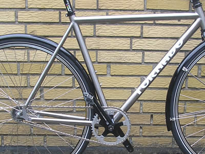 Titan titanium fixed gear frame